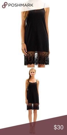 Black Lace Extender Beautifully made black lace extender with adjustable straps ✨ It can be worn under a dress, top or sweater to add a feminine touch to any outfit ⚜ Tops