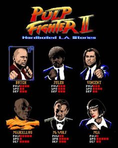Pulp Fighter II – Street Fighter VS. Pulp Fiction