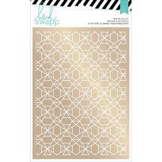"""American Crafts Wanderlust Rub-On Foil Kit 5.5""""X7.5""""-Geometric Print/"""