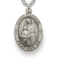 St. Raphael, Patron of Blindness, Sterling Silver Medal http://www.truefaithjewelry.com/sm8848sh.html