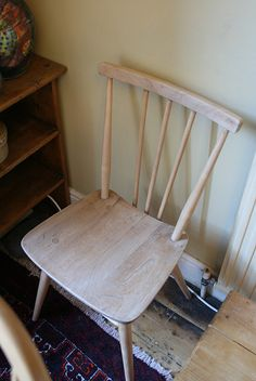 Ercol Chair unpolished
