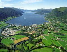 Nordfjordeid from air