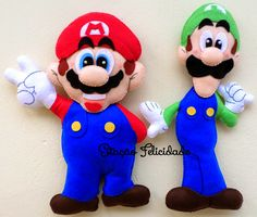 "I""It´s me Mario! Here we go! Super Mario Bros, Super Mario Party, Felt Crafts, Paper Crafts, Mario E Luigi, Mario Brothers, Sewing Toys, Soft Dolls, Felt Toys"