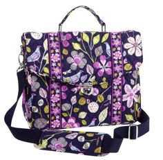Vera Bradley Attache in Floral Nightingale