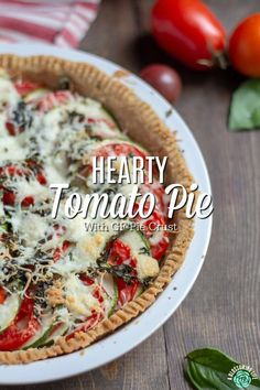This tomato pie recipe has a perfectly flaky and buttery pie crust that is loaded with tomatoes and zucchini and a touch of garlic and cheese to make this delicious, savory pie. It's a great recipe for when your garden is brimming with fresh zucchini and tomatoes. #ablossominglife #Homemade #easydinners Real Food Recipes, Great Recipes, Healthy Recipes, Amazing Recipes, Healthy Tips, Healthy Meals, Delicious Recipes, Soup Recipes, Easy Dinner Recipes