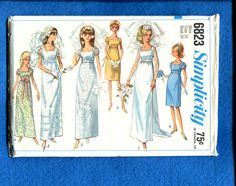 1960's Simplicity 6823 Retro Empire Wedding or by MrsWooster