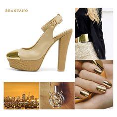 #PV2013 Deslumbra a cada #paso con el realce #dorado de nuestros Sling Back #Beige Pampa. http://www.brantano.com.mx/producto/904-sling-back-beige-pampa.aspx #zapatillas #tacones #detalles #metal #fashion #chic #tendencias #Brantano #PaletaDeColor