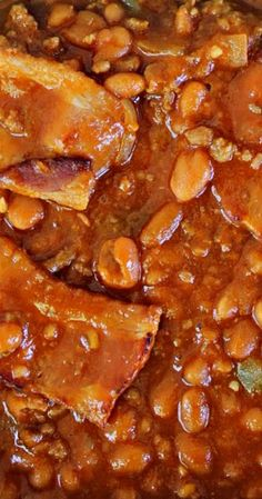 Baked Beans With Hamburger, Baked Beans Crock Pot, Slow Cooker Baked Beans, Bbq Baked Beans, Beans In Crockpot, Bbq Beans, Baked Bean Recipes, Crockpot Recipes, Cooking Recipes