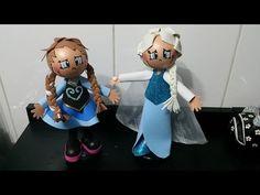 Como fazer a Rainha Elsa em eva 3d do filme frozen DIY - YouTube