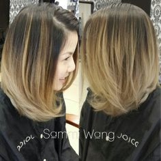 Short hair Balayage ombre