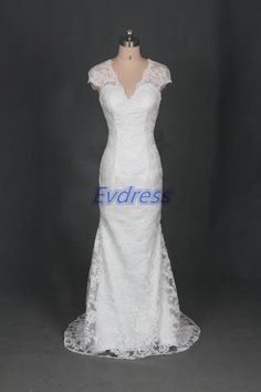 Latest floor length ivory lace wedding gowns in by Evdress on Etsy