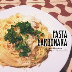 Καρμπονάρα Spaghetti, Pasta, Ethnic Recipes, Food, Meals, Noodles, Yemek, Noodle, Eten