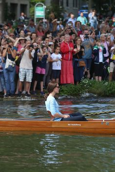 Catherine, Duchess of Cambridge participates in a Rowing race.between the twinned town of Cambridge and Heidelberg and against Prince William, Duke of Cambridge on the second day of their visit to Germany on July 20, 2017 in Heidelberg, Germany.