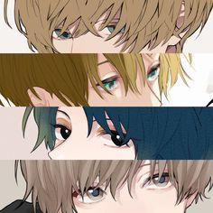 Sad Anime, Anime Eyes, Anime Chibi, Manga Anime, Anime Art, Guy Drawing, Character Drawing, Male Eyes, Anime Drawings Sketches