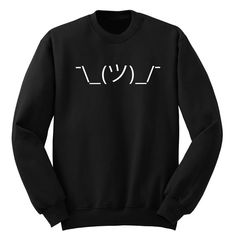 $24.00 Shrug Emoji Sweatshirt BLACK