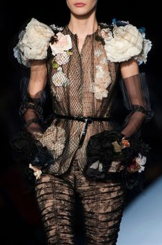 This look is different, but it is fierce. Jean Paul Gaultier at Couture Spring 2015
