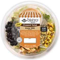Kickin' BBQ Chopped Salad ready pac salad kit perfect for on the go as a sub for fast food Bbq Salads, Salads To Go, Tasty Tacos Recipe, Bistro Salad, Salad Packaging, Perfect Tacos, Salad Kits, Taco Fillings, Food Branding