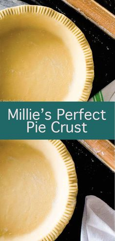 Millie's Perfect Pie Crust An all butter pie crust with instructions to make by hand, with a stand mixer, or with a food processor. No matter your method, this pie crust turns out beautifully flaky and tender every time. All Butter Pie Crust, Easy Pie Crust, Homemade Pie Crusts, Pie Dough Recipe, Pie Crust Recipes, Best Pie Crust Recipe, Fun Desserts, Dessert Recipes, Perfect Pie Crust