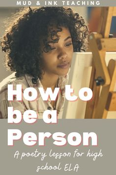 At the start of a new school year or even a new semester, it's important to create moments of reflection and inspiration for students. Use this lesson plan to reset classroom culture and provide a moment for creativity and creative writing in your classroom. Middle School Ela, Middle School English, English Classroom, Ela Classroom, English Lessons, English Resources, Language Arts, English Language, Poetry Lessons