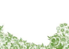 Frame, Floral, Green, Flowers
