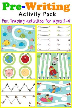 Benedetta barsanti benedettabarsan on pinterest pre writing activity pack for toddlers and preschoolers ages 2 4 featuring fun tracing fandeluxe Image collections