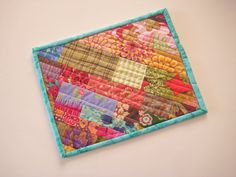 Handmade Quilted Mug Rug  164  Snack Mat Plant Mat by PeppersAttic