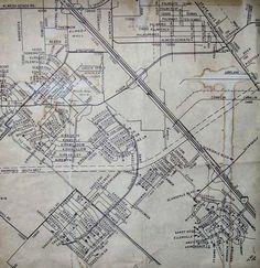 South Belt area map 1966