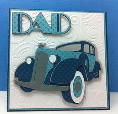 Art Deco Cricut Father's Day Card