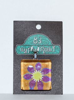 MS 13  Glass Pendant  Flower by 83GypsyRoad on Etsy