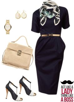 """Act like a lady, think like a boss."" by quesarasara on Polyvore"
