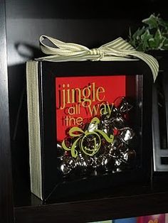 Jingle all the way shadow box-maybe use polar express bells instead