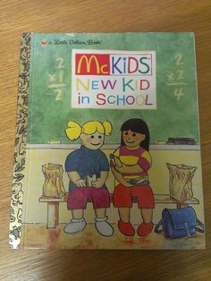 McKids - New Kid In School (Little Golden Book) H/C RARE!!!