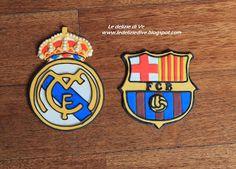Le Delizie di Ve: BARCELLONA E REAL MADRID CAKE TOPPER