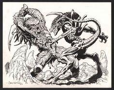WARNER, Chris 2011 Alien vs Predator AVP Comic Art
