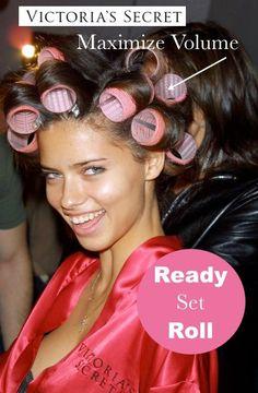 Ready, Set, Roll! Victoria's Secret Volumized hair w/ Velcro rollers!