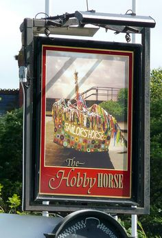UK Public House - The Hobby Horse - Minehead Pub Sign