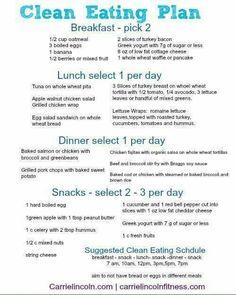 Banana Recipes Clean Eating, Healthy Banana Recipes, Clean Eating Diet Plan, Clean Recipes, Easy Diet Plan, Healthy Eating Plans, Healthy Weekly Meal Plan, Diet Recipes, Healthy Meal Planning