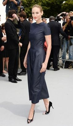 Leelee Sobieski arrives at the Dior haute couture 2014 show in Paris.