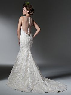 Silvia Wedding Dress by Maggie Sottero   back