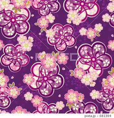 和柄パターン桜のイラスト素材 by madara