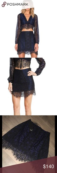 For Love and Lemons Lyla Skirt For Love and Lemons Lyla Lace Mini Skirt (NWT) size: xsmall For Love and Lemons Skirts Mini