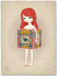 Eye of Eternity, by Mark Ryden. Limited-edition serigraph print
