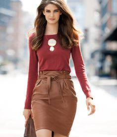 skirt is perfect fall work chic