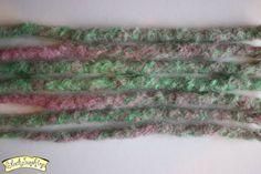 Raspberry Mint Crochet Synthetic Dreads x7 SE  by blacksunshineiow