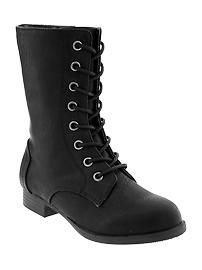 Girls Laced Boots