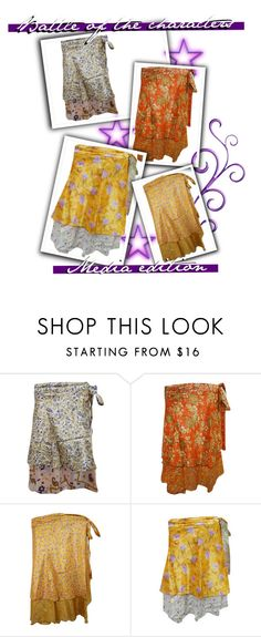 BOHO GYPSY WRAP SKIRTS by moguldesigns on Polyvore featuring skirts, wrapskirt and bohoskirts