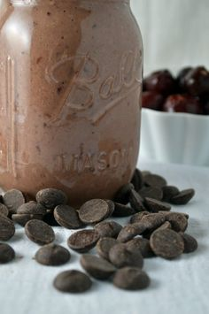 Chocolate Covered Cherry Smoothies for Two @AnotherRoot