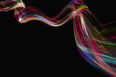 Flowing ribbons/light streaks