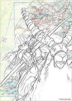 Mononoke Hime / Mononoke Princess SKETCH LAYOUT