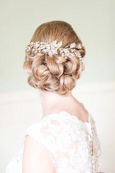 Romantic Wedding Hairstyle.  Photo by Tina Jay Photography - http://tinajayphotography.com/